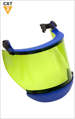 12cal Arc Resistant Face Shield with Slot Fit Bracket