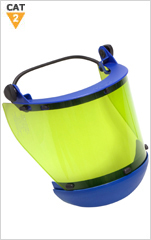 12 cal Arc Resistant Face Shield with Elastic Bracket