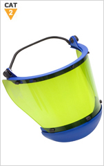 12 cal Arc Resistant Face Shield for Full Brim Hard Hat