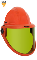 Salisbury Arc Resistant 12cal Face Shield c/w Hard Hat