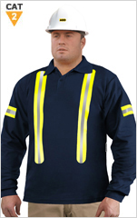 UltraSoft Arc/FR Long Sleeve Polo Shirt