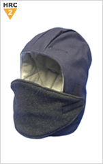Winter Hard Hat Liner with Face Protector